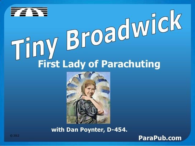 First Lady of Parachuting           with Dan Poynter, D-454.                                      ParaPub.com© 2012