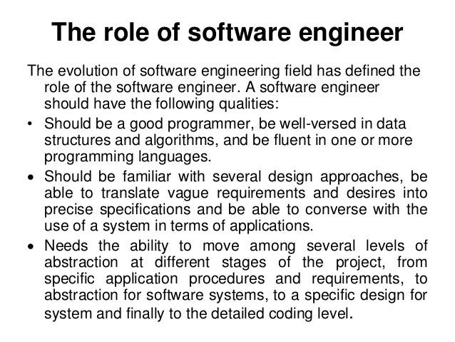 10 the role of software engineer - Responsibilities Of A Software Engineer