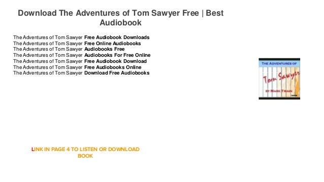 Listen the adventures of tom sawyer audiobook free download.