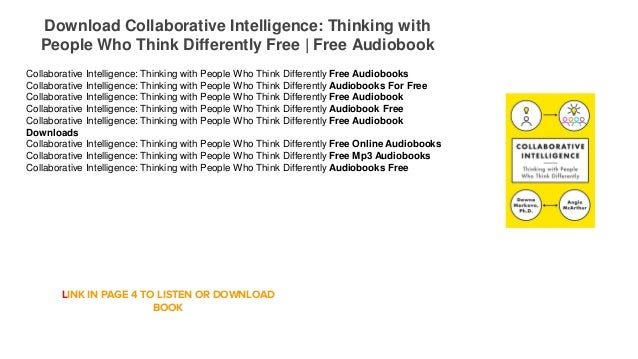 collaborative intelligence thinking with people who think differently