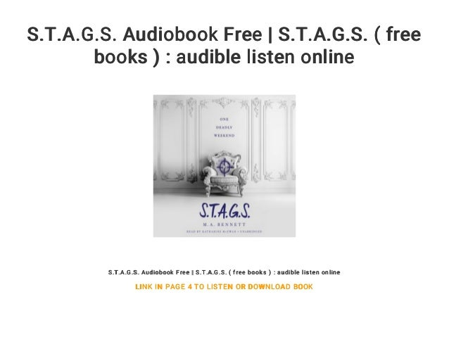S T A G S  Audiobook Free | S T A G S  ( free books ) : audible list…