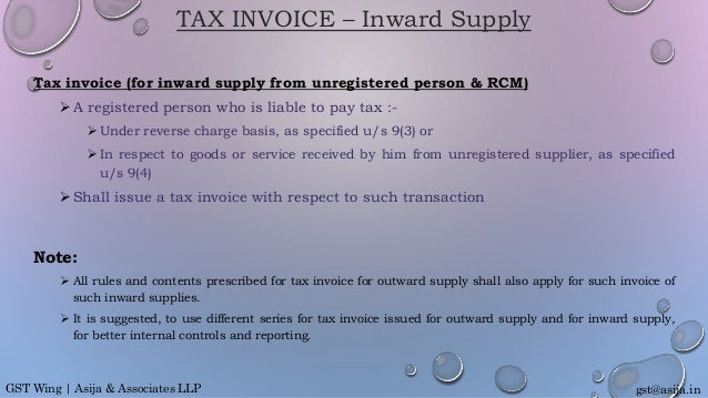 S 2 Invoicing Rules Under Gst