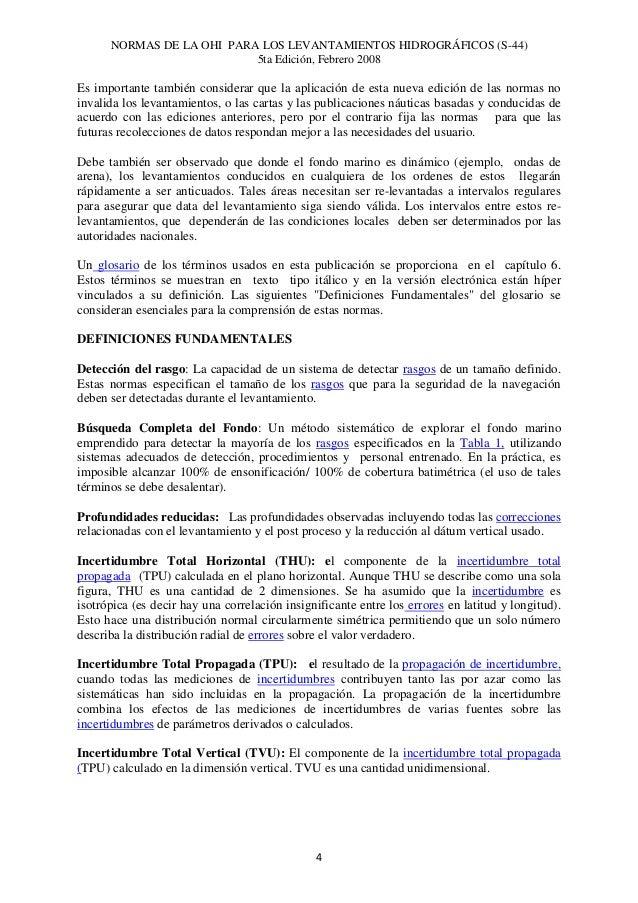 normas utilizadas en los levantamientos hidrograficos spanish edition