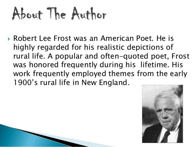 essay on road not taken by robert frost This page is an essay on the ignore all rules policy and the be bold   metaphorically speaking, someone who takes 'the road less traveled' is  the  phrase itself is a famous few lines extracted from the road not taken by poet  robert frost:.