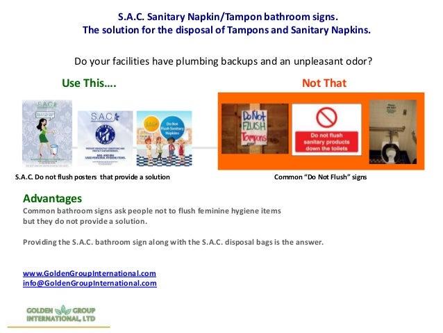 S A C Bathroom Signs