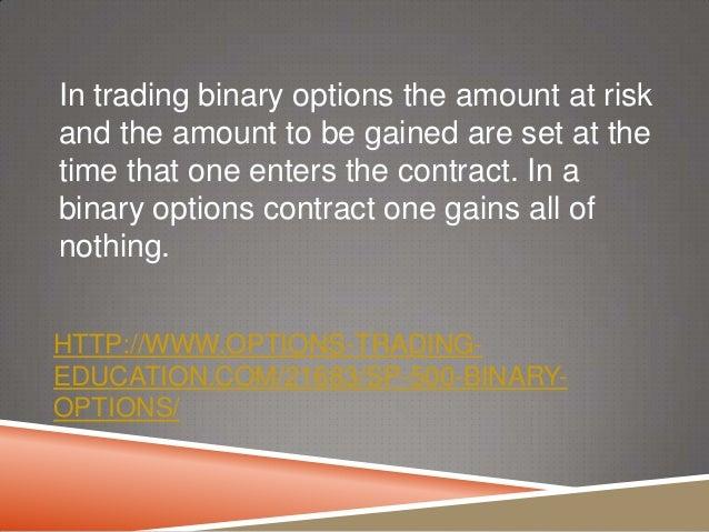 Binary options 500