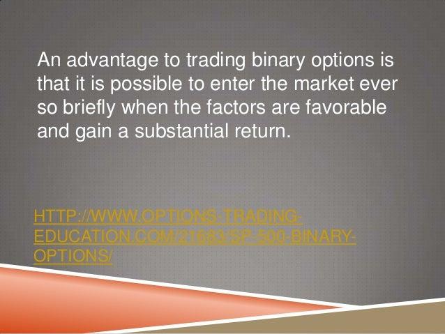 European style binary option