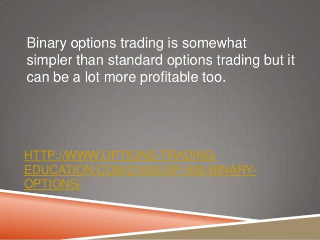 Become a successful binary options trader