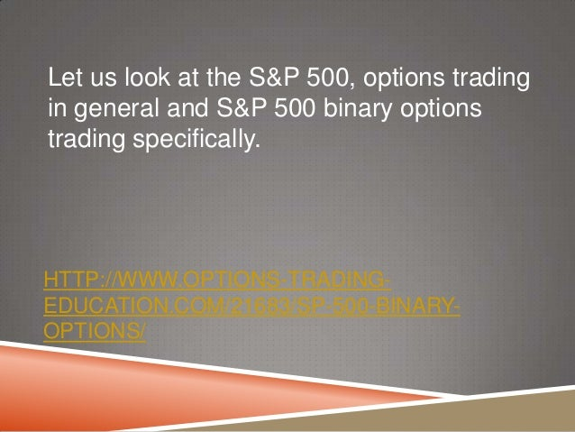 How to trade index options