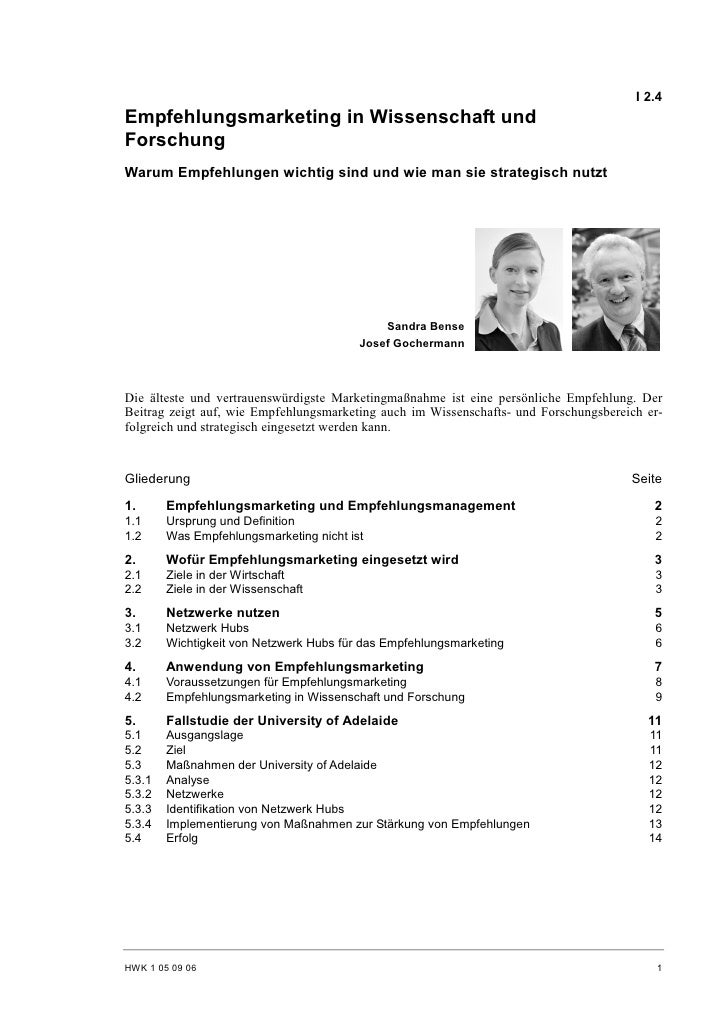S. Bense, J. Gochermann: Empfehlungsmarketing