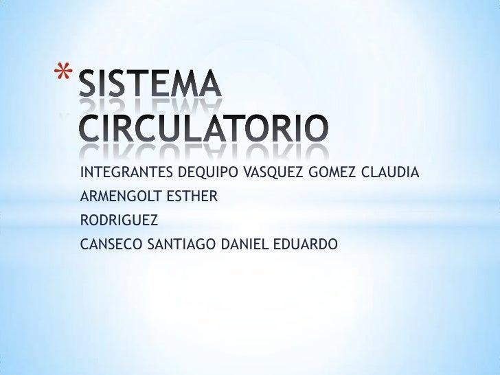 *    INTEGRANTES DEQUIPO VASQUEZ GOMEZ CLAUDIA    ARMENGOLT ESTHER    RODRIGUEZ    CANSECO SANTIAGO DANIEL EDUARDO