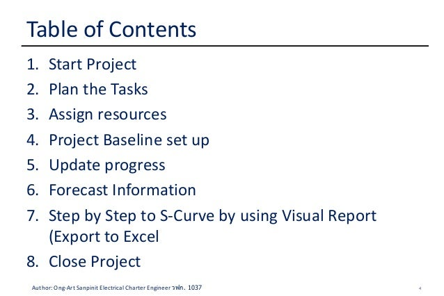 How to Create S-Curve by MS Project 2010