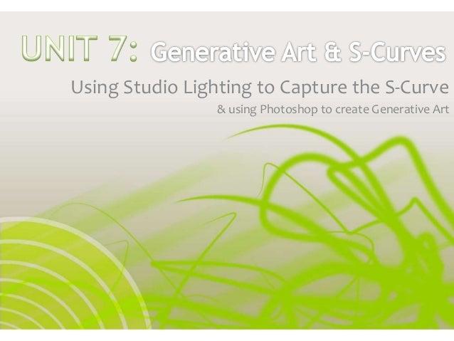 Using Studio Lighting to Capture the S-Curve & using Photoshop to create Generative Art