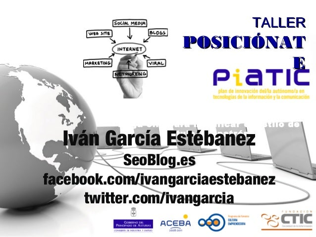 Haga clic para modificar el estilo de título del patrón TALLERTALLER POSICIÓNATPOSICIÓNAT EE Iván García Estébanez SeoBlog...