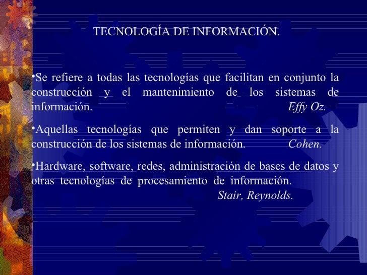Administracion de los sistemas de informacion effy oz