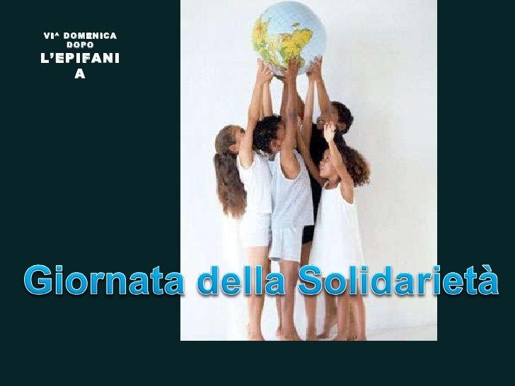 VI^ DOMENICA DOPO  L'EPIFANIA