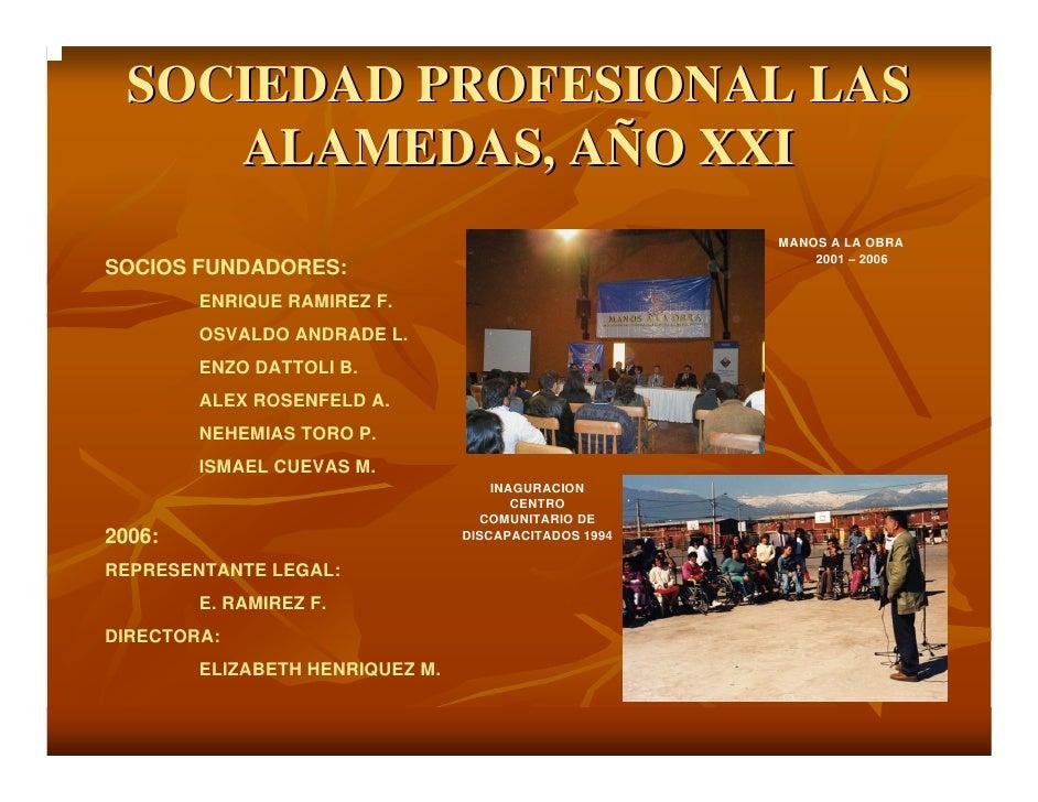 SOCIEDAD PROFESIONAL LAS      ALAMEDAS, AÑO XXI                                                        MANOS A LA OBRA    ...