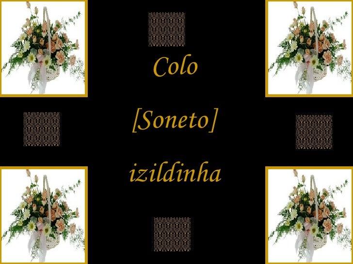 Colo [Soneto] izildinha