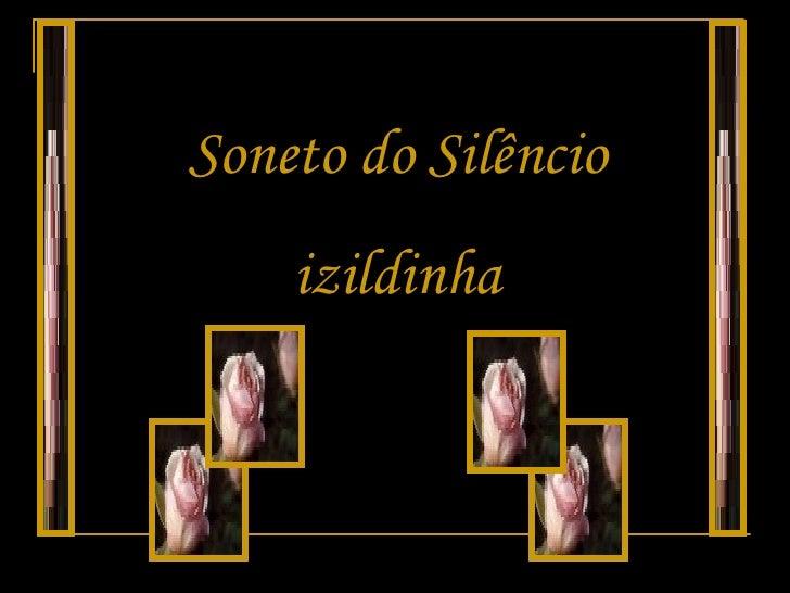 Soneto do Silêncio izildinha