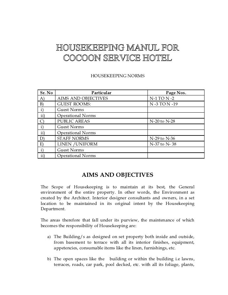 s o p rh slideshare net Hotel Housekeeping Standard Operating Procedures Housekeeping Procedure Manual