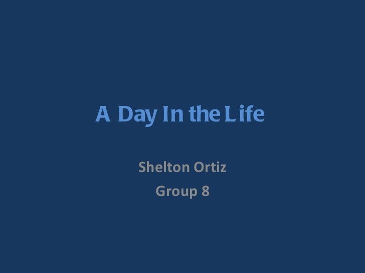 A Day In the Life  Shelton Ortiz Group 8