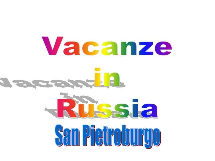 San Pietroburgo è una città della Russia nord-occidentale,fondata dallo Zar Pietro il Grande il 27 maggio 1703 ed è lexcap...