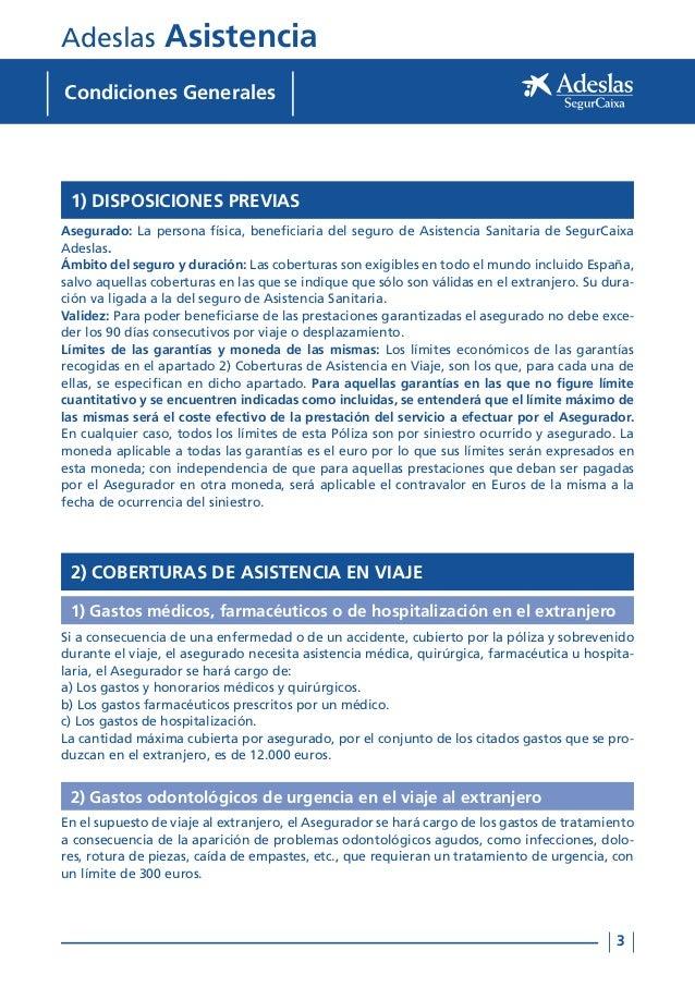 Asistencia en viaje sos condiciones generales adeslas - Oficinas de adeslas en madrid ...
