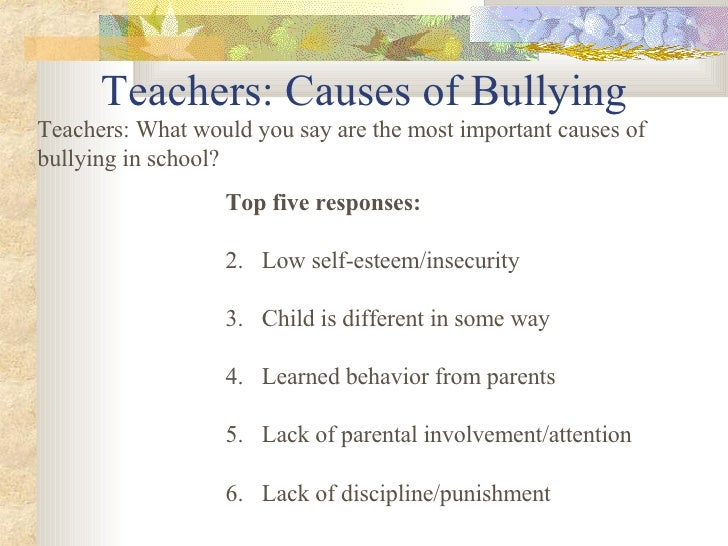 3 causes of bullying