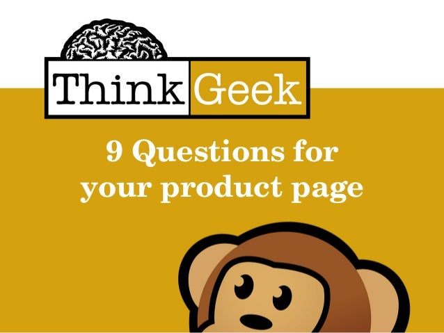 9 Questions for your product page