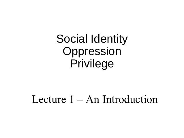An introduction to the issue of oppression and cruelty