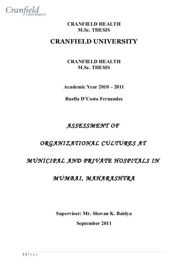 Cranfield university masters thesis
