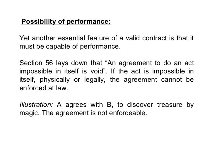 features of a valid contract