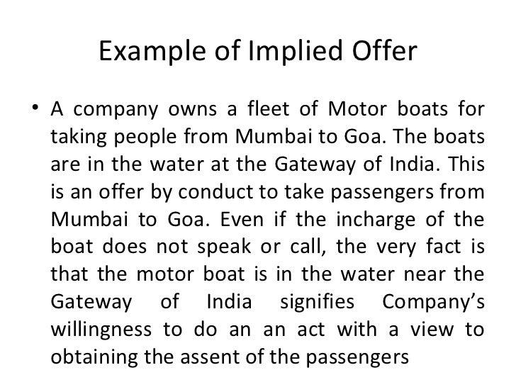 implied offer