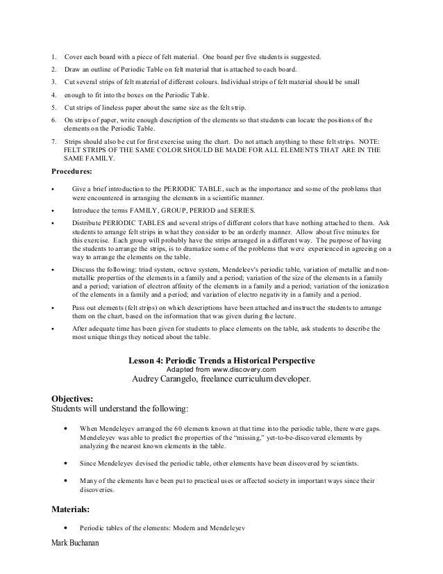 S1 2 chemistry and periodic table unit plan preparation mark buchanan 7 urtaz Choice Image