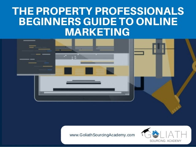 THE PROPERTY PROFESSIONALS BEGINNERS GUIDE TO ONLINE MARKETING www.GoliathSourcingAcademy.com