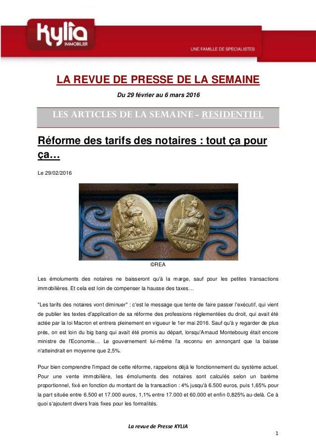 La revue de Presse KYLIA 1 LA REVUE DE PRESSE DE LA SEMAINE Du 29 février  ... c5111625e3a