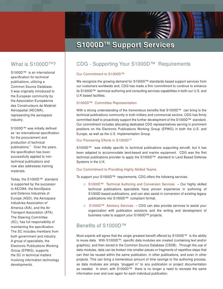 TM                                      S1000DTM Support Services  What is S1000DTM?                    CDG - Supporting Y...