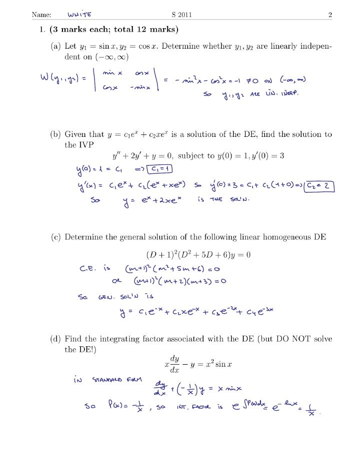 S11 ode  midterm_white_solution
