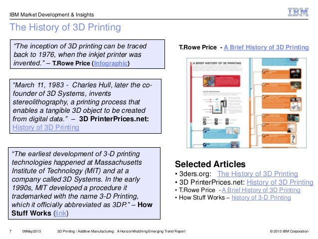 3D Printing - A 2014 Horizonwatching Trend Summary Report