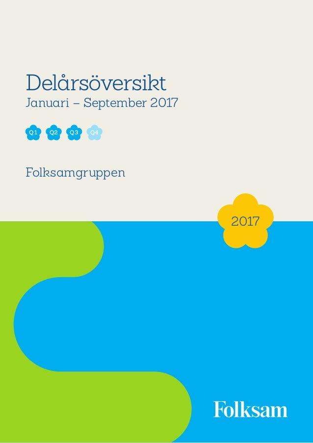 1 Delårsöversikt Januari – September 2017 Folksamgruppen 2017 Q2 Q3Q1 Q4