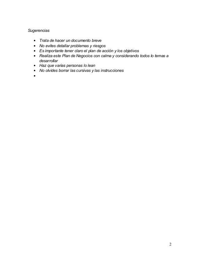 Sugerencias  •   Trata de hacer un documento breve  •   No evites detallar problemas y riesgos  •   Es importante tener cl...