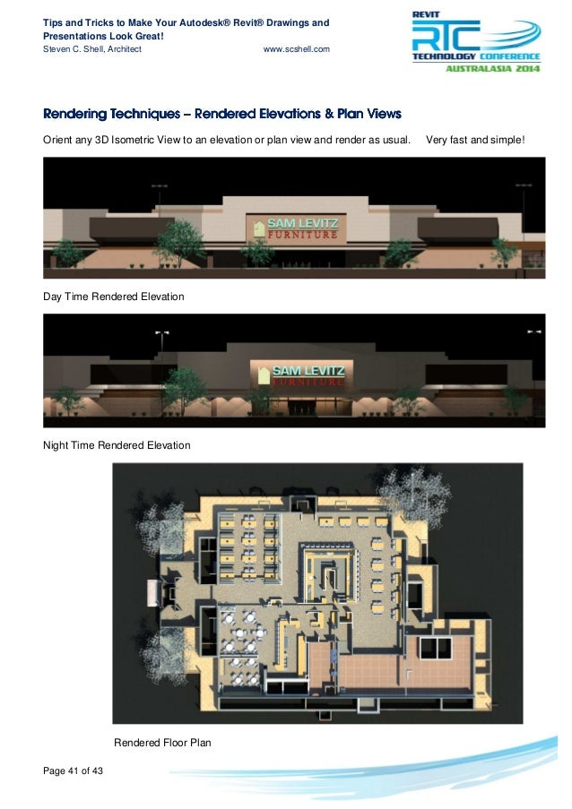 Tips and tricks to make your revit drawings look greats