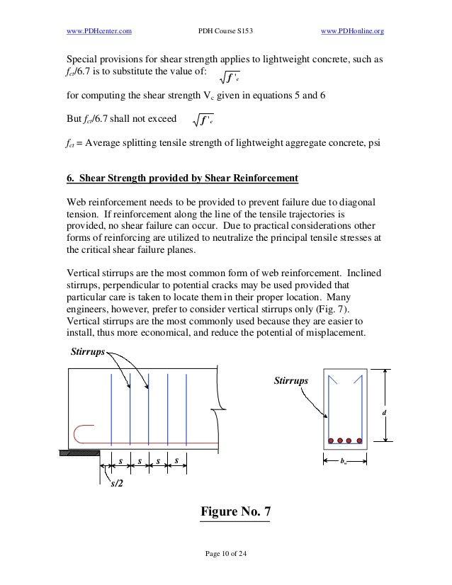 Aci Lightweight Concrete : Shear strenth of reinforced concrete beams per aci
