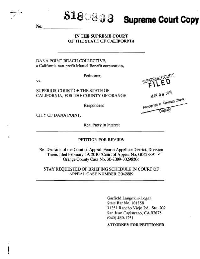 garfield langmuir logan attorney vs dana point beach - supreme court …