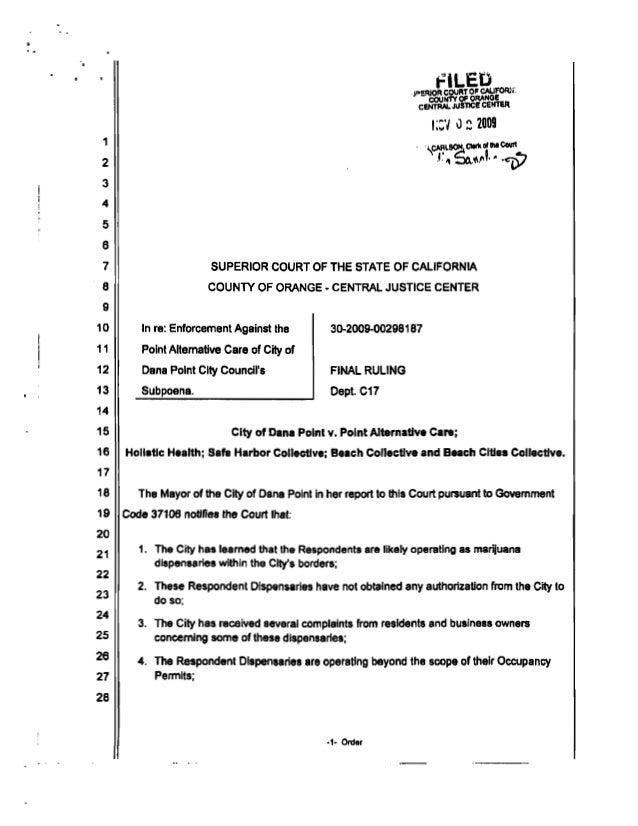 Garfield Langmuir Logan Attorney vs Dana Point beach