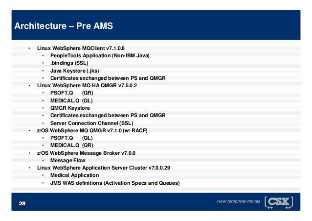 2828282828282828 • Linux WebSphere MQClient v7.1.0.8 • PeopleTools Application (Non-IBM Java) • .bindings (SSL) • Java Key...