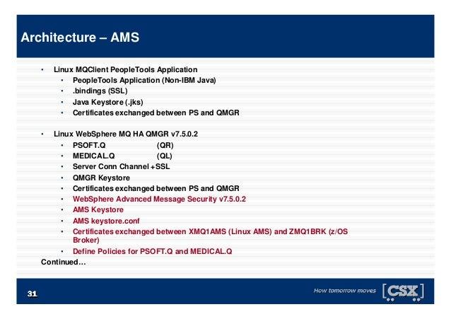 3131313131313131 • Linux MQClient PeopleTools Application • PeopleTools Application (Non-IBM Java) • .bindings (SSL) • Jav...