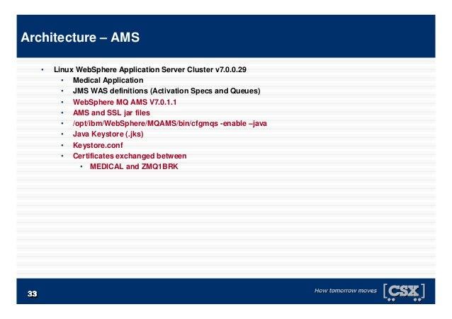 3333333333333333 • Linux WebSphere Application Server Cluster v7.0.0.29 • Medical Application • JMS WAS definitions (Activ...