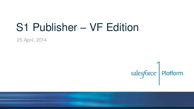 S1 Publisher – VF Edition 25 April, 2014