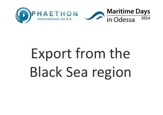 Exportfromthe BlackSearegion